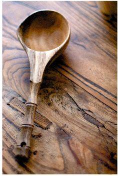 Trunk carpenter's handmade wooden spoon bailer handmade bamboo handle belt…
