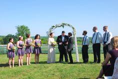 Gorgeous outdoor wedding backdrop at Century Village in Burton, Ohio