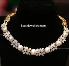 Diamond South Sea Pearl Necklace