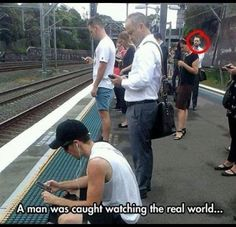WOW! A man was caught watching The Real World!