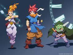 Marle, Crono and Frog from Chrono Trigger