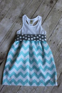 Little girls chevron tank dress