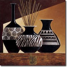 Cuadro Patterns in Ebony I - Keith Mallet