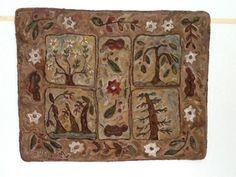 Four Seasons Pattern by Marijo Taylor. Hooked by Maureen Lowrey.