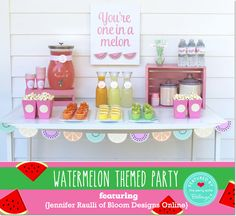 Watermelon Themed 12th Birthday Party, by Jennifer Raulli of Bloom Designs Online // Featured by the Party Suite at Bellenza