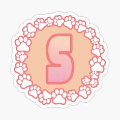 LETTER S PAW Stickers | Redbubble