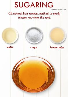 Sugaring is an all-natural method that uses a paste or gel made from sugar, water and lemon juice to easily remove the hair from the root. It washes off easily with water and the results can last up to six weeks.  To make a natural hair removal sugar wax, you will need: 1 cup …