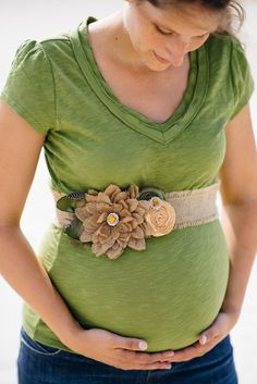 Beautiful Baby Neutral Burlap Belly Sash by IzzysCouture on Etsy, $35.00