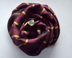 Burgundy  Gold Scarf-Silk Bamboo Towel  Shawl / Bridesmaid