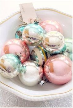 Pastel shiny ornaments