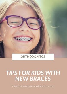 If your child is getting braces in the near future, it's helpful to let them know what to expect during their first week with braces. Most kids see other kids with braces and think it's nothing to think about beforehand. At Rochester Advanced Dentistry, we recommend sharing these five tips for kids with new braces to your children before they have their braces placed. Getting Braces, Dental Problems, Best Oral, Dentists, Dental Hygiene, Orthodontics, Cavities, Healthy Kids, Your Child