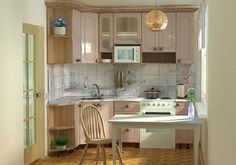Интерьер кухни 5 кв м в классическом стиле