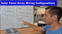 How to Design an Off-grid Solar Power Array Wire Configuration - YouTube Off Grid Solar Power, Diy Greenhouse, Diy Solar, Off The Grid, Solar Panels, Wire, Youtube, Design, Homemade Solar Panels