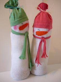 Make Sock Snowmen
