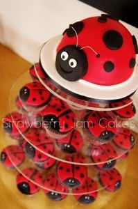would love to do this.  Too cute.  Cake and cupcakes in one.