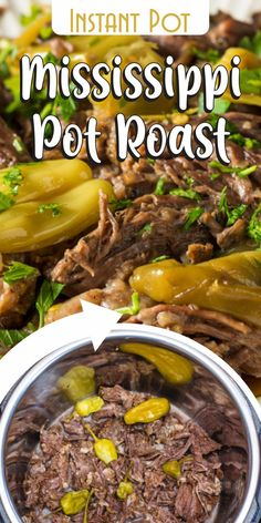 If you like roasted meat, try this pressure cooker Mississippi Pot Roast recipe.  Enjoy a delicious main dish and add spicy twist to your dinner!I really like making this Instant Pot recipe since it's just Set It and Forget It.     I can watch tv or do the dishes while waiting, and after one hour I just open the lid and enjoy a soft