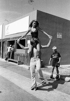 """""""Radical"""" Rheilly & Damsel; Hermosa, California, 1970s © SPOT"""