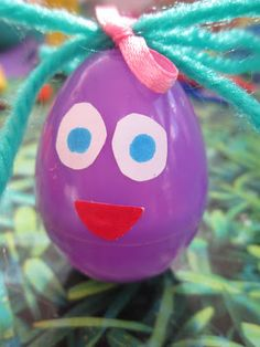 Easter wobbles - recycling plastic eggs