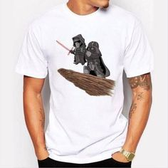 New Star Wars Funny Printed Men Casual Short Sleeve T-shirt Summer Tee Tops