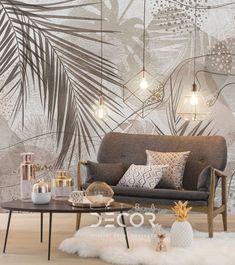 Bedroom Wall Designs, Wall Decor Design, Bedroom Murals, Modern Bedroom Design, Home Room Design, Interior Design Living Room, Wall Murals, Wall Painting Living Room, Art Deco Living Room