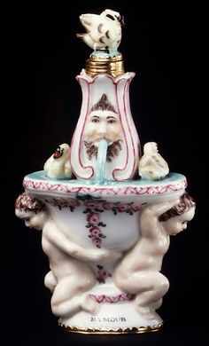 Bottle, Scent Chelsea Porcelain Factory Date: before 1754 Culture: English (Chelsea) Medium: Soft-paste porcelain