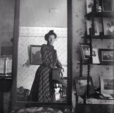 The first known mirror selfie, taken in 1900. No duckface or abs in this one, but it was a sign of things to come. She didn't even have an Instagram to post it to.