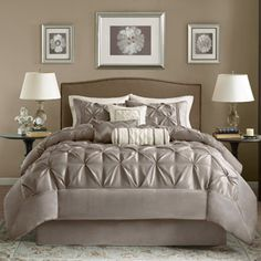 Home Essence Piedmont 7-Piece Comforter Set size queen
