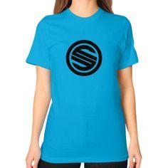 Shortyyguy Shirt Unisex T-Shirt (on woman)