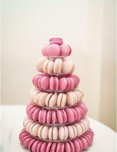 Pink wedding macaroons