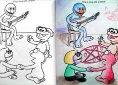 29 Of The Most Disturbing Things Drawn In Childrens Coloring Books