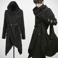 Hooded Wrap Coat, cyberpunk fashion