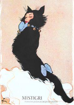 1954 Perfume Ad, art by Rene Gurau