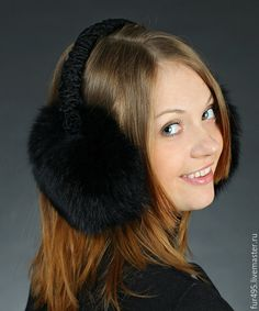 Grape Color Name Winter Warm Ear Muffs Faux Fur Ear