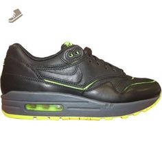 Nike Air Max 1 Cut Out Premium womens fashion-sneakers 644398-002_12 - 002-BLACK/BLACK-VOLT-DK GRY - Nike sneakers for women (*Amazon Partner-Link)