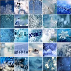 mosaic of frosty blue hues
