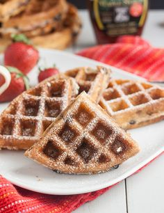 Blueberry Yeasted Waffles by Tracey's Culinary Adventures, via Flickr (Cook's Illustrated) fridge 12- 24 hrs