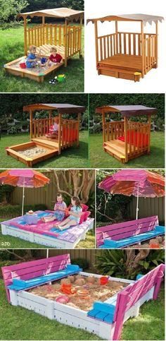 Cabana with Sand Pit: Perfect Place to Play for Children's
