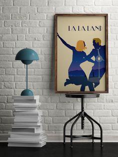La la land poster, La la land film print, gift for dancer, retro home decor