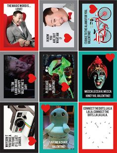 Pee-Wee Herman Printable Valentines Download and by erinleasehall
