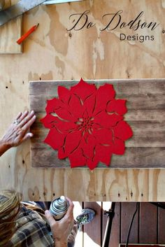 Country Crafts Christmas Stencil Hack - Holiday decor by Do Dodson Designs Diy Christmas Decorations Easy, Diy Home Decor Easy, Holiday Crafts, Easy Diy, Dyi, Dollar Store Christmas, Christmas Signs, Christmas Home, Christmas Ideas