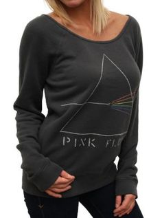 Pink Floyd Super Soft off the shoulder fleece  #pinkfloyd  www.junkfoodclothing.com  $60