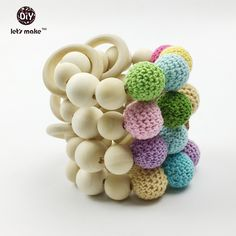 Natural Wooden Eco-Friendly Safe Baby Teether Teething Toys Baby Shower Gift L/_D