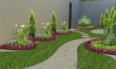 To create the garden landscaping seem beautiful and attractive, plant large shrubs along the outside of the fence. Obviously, the real key to a prosperous garden plan for partial shade is to select the most suitable shade loving plants. Garden Shrubs, Garden Edging, Landscape Designs, Garden Landscape Design, Green Landscape, Outdoor Landscaping, Front Yard Landscaping, Small Gardens, Outdoor Gardens