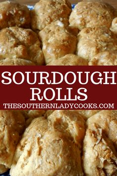 These little sourdough rolls are so easy to make and my family loves them. This is another way to use up some of your sourdough starter. Sourdough Dinner Rolls, Sourdough Bread Starter, Sourdough Recipes, Sourdough Rolls Recipe No Yeast, Bread Machine Recipes, Easy Bread Recipes, Cooking Recipes, Starter Recipes, Cooking Ideas