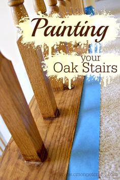 Painting Oak Stairs for a Fresh Update - C'mon Get Crafty