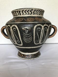 Ancient Greek Pitcher Reproduction of clay in Kamares style