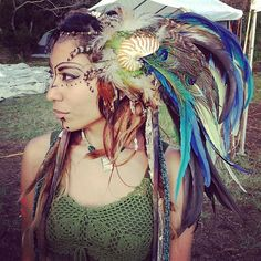tribal headband | native american head dress--No it's not ...
