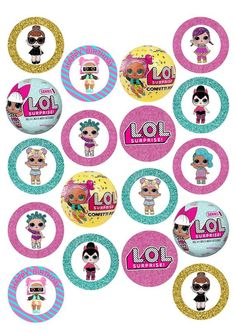 """18 x 2"""" LOL Surprise Pre-Cut Wafer Cupcake Toppers Mom Birthday Gift, 4th Birthday, Birthday Parties, Surprise Birthday, Lol Doll Cake, Hi Gorgeous, Cupcake In A Cup, Little Mermaid Birthday, Doll Party"""