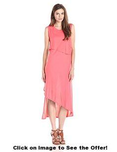 BCBGMax Azria Women's Kyrie Sleeveless Asymmetrical Layered Dress