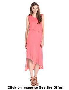 BCBGMax Azria Women's Kyrie Sleeveless Asymmetrical Layered Dress